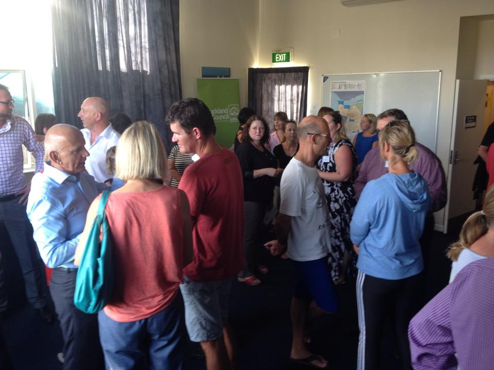 Locals gathered for Meadowbank SHA drop-in meeting