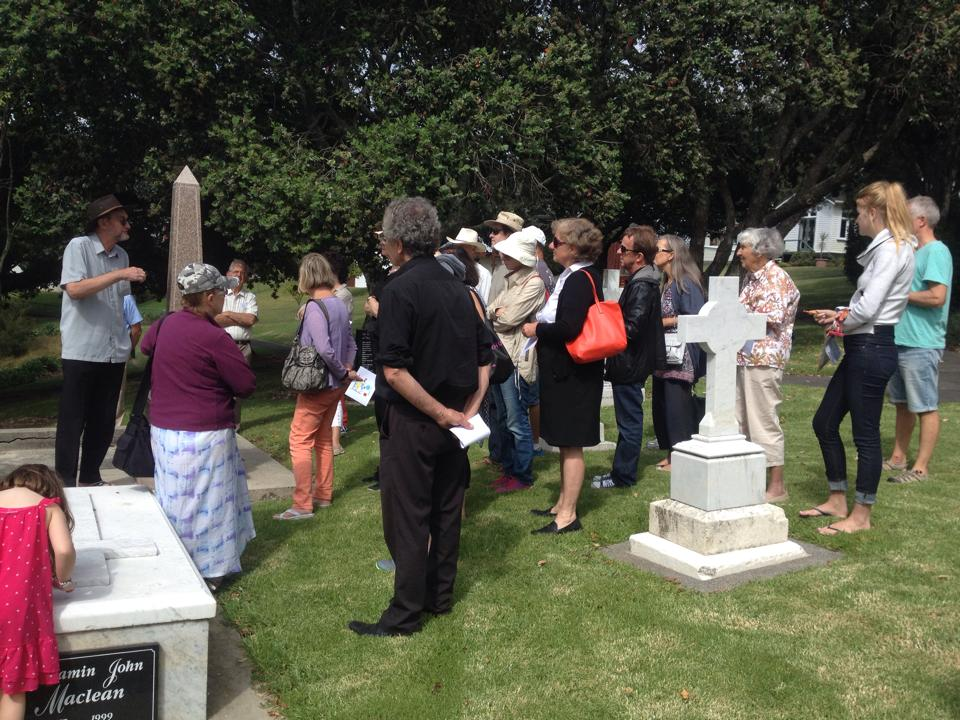 Tours were conducted in small groups in the grounds of St Johns Theological College.