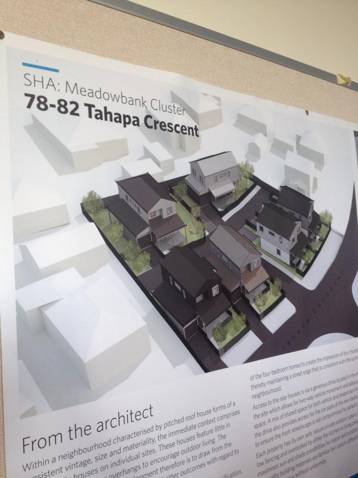 Architect's impression of the development at 78-82 Tahapa Crescent - one of the three SHAs planned for Meadowbank