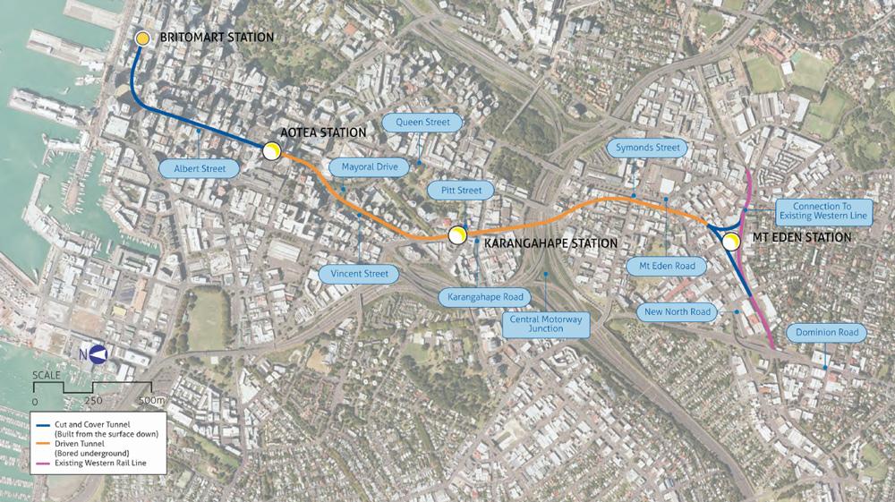 city-rail-link-route map