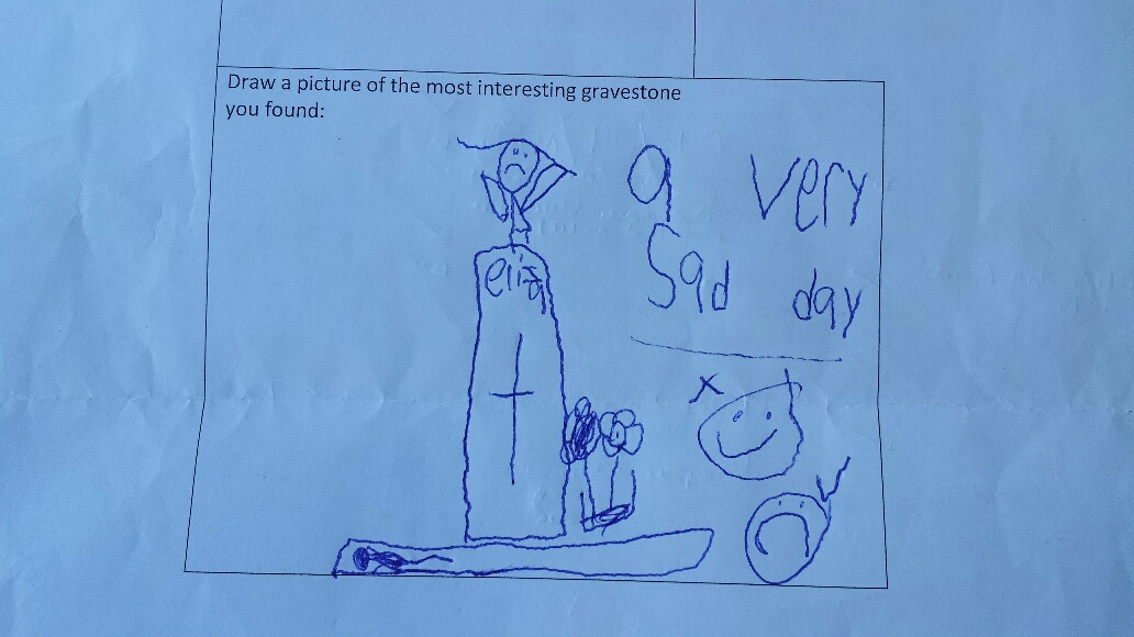 Kids scavenger hunt: picture by 5 year old Elsa Cooper