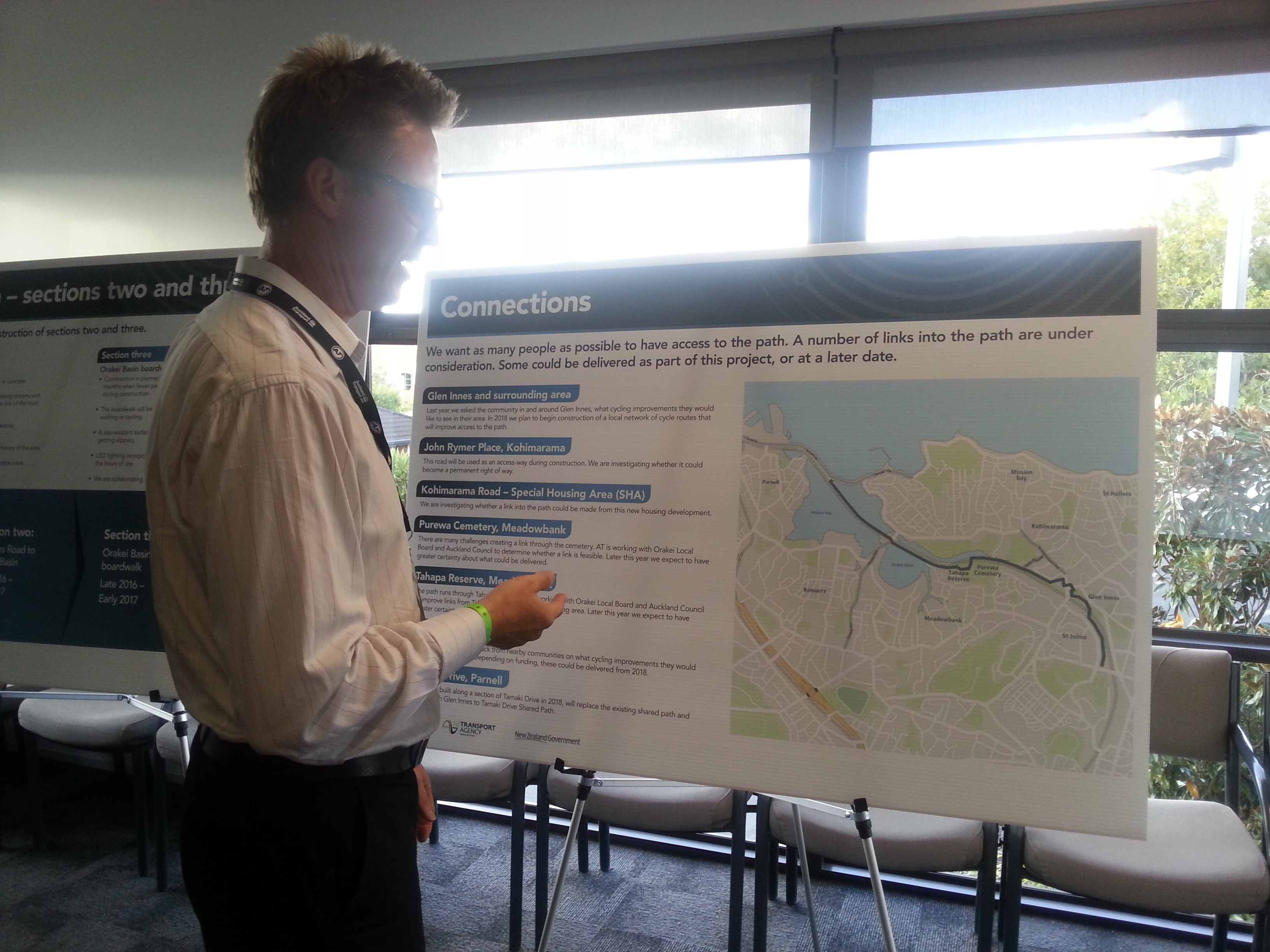 Potential connections to the Eastern Pathway, Public Consultation, April 2016.