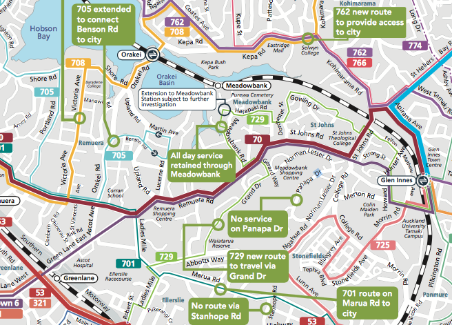 New bus routes from 2017 Meadowbank & St Johns