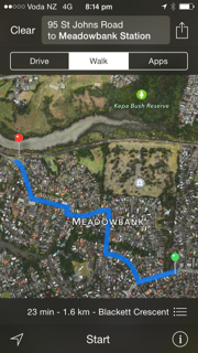 Walking from Meadowbank train station to The Block NZ takes 20 minutes.